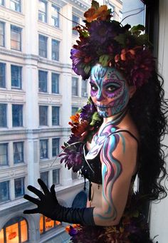 Have you started your costume yet? Days Till Halloween, Sugar Skull Makeup, Belly Dance Costumes, Day Of The Dead, Playing Dress Up, 22 Days, Day Of Dead