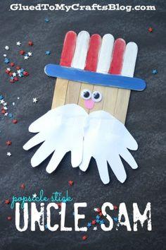 Popsicle Stick Uncle Sam - Kid Craft