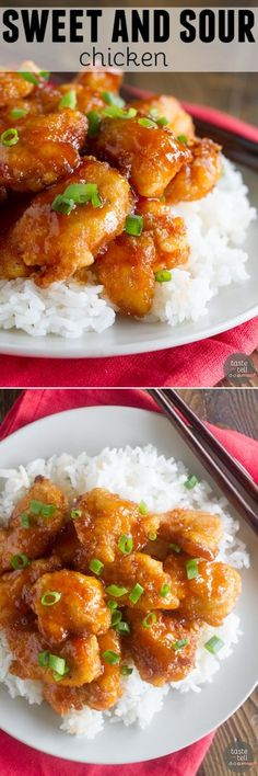 Skip the take out - this Sweet and Sour Chicken Recipe is so good that you'll put it on the permanent rotation. Chicken is coated in a sweet and sticky sauce and baked to perfection.(Baking Sweet And Sour Chicken) Asian Recipes, Healthy Recipes, Chinese Recipes, Sweet Sour Chicken, Baked Sweet And Sour Chicken Recipe, Easy Orange Chicken, Asian Cooking, Main Dishes, Food And Drink