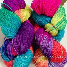 Simply Socks Yarn Company - Manos Alegria Locura Fluo 9275, $24.25 (http://www.simplysockyarn.com/manos-alegria-locura-fluo-9275/)