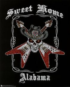 Lynyrd Skynyrd ~ Sweet Home Alabama . curiously came on the radio as we crossed the border from Tennessee Lynyrd Skynyrd, Sweet Home Alabama Lyrics, Iphone Backgrounds Nature, Rockn Roll, Poster Pictures, My Favorite Music, Cool Bands, Rockabilly, Heavy Metal