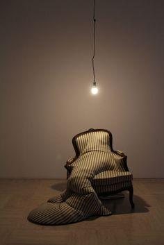 """Métamorphose"" par Amandine Maillot. Metamorphosis Art, Hips And Curves, Artistic Installation, Medium Art, Contemporary Artists, Textile Art, Sculpture Art, Cool Designs, Furniture Design"