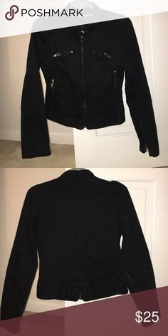Express Moto Bomber Jacket Express size small. Very gently worn. Zipper and button details and elbow patches Express Jackets & Coats Blazers