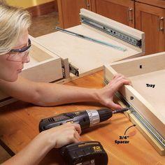 Kitchen Cabinet Storage Solutions: DIY Pull Out Shelves Kitchen Sink Storage, Cheap Kitchen Cabinets, Under Sink Storage, Kitchen Organization, Kitchen Sinks, Updating Cabinets, Extra Storage, Kitchen Backsplash, Kitchen Remodel
