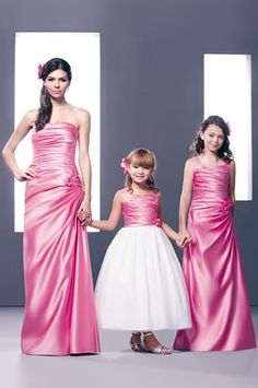 1000 images about flower girl moms wedding on pinterest for Matching wedding and flower girl dresses