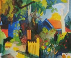 August Macke  Landscape with Bright Trees