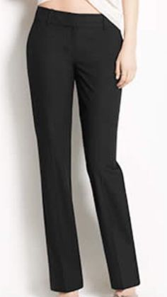 Ann Taylor Audrey Fully Lined Black Dress Pants Women's Size 6 X 32 New! $128 #AnnTaylor #DressPants