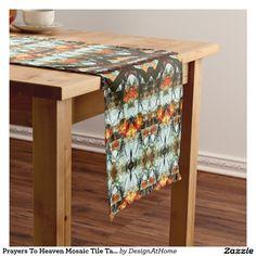 Prayers To Heaven Mosaic Tile Table Runner