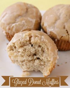 Glazed Donut Muffins. These muffins are divine! A must-keep recipe. { lilluna.com }