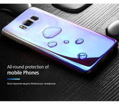 Samsung Galaxy S8 (en S8 Plus) Gradient Blue ray hardcase