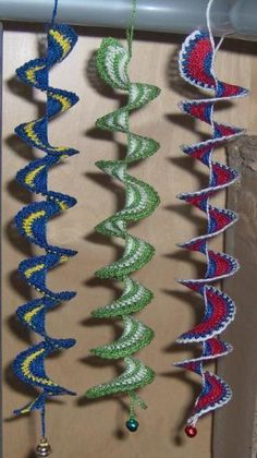Crochet spiral with/without beads for windows or earrings | YouCanMakeThis.com