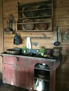 Such a cool looking rustic kitchen