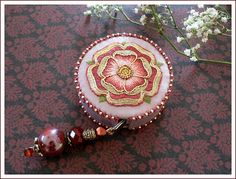 tape measure cover Goldwork