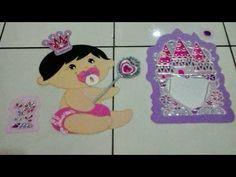 Decoração bebê Princesa com molde. - YouTube