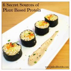 http://www.julieslifestyle.com/6-secret-sources-of-plant-based-protein/ Do you know where to get your Protein on a High-raw Vegan Diet? These are my 6 Favorite Vegan Protein Sources!