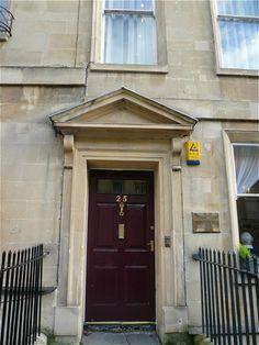 #25 Gay Street, Bath. Where Jane Austen lived.