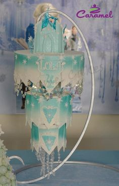 Hanging Frozen Chandelier Cake - Cake by Caramel Doha