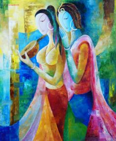 Beenu Gupta - artworks for sale Action Painting, India Painting, Love Painting, Indian Contemporary Art, Spiritual Love, Indian Art Paintings, India Art, Indian Artist, African Art