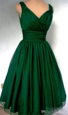2016 Bridesmaid Tea Length Dresses V Neck Zipper Back Dark Green Plus Size Maid of Honor Dress Chiffon A Line Cheap Party Gowns