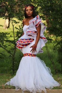 Pedi Traditional Attire, Sepedi Traditional Dresses, African Fashion Traditional, African Traditional Wedding Dress, Traditional Wedding Attire, African Print Wedding Dress, African Wedding Attire, African Attire, African Wear Dresses