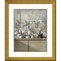 Global Gallery 'The Lawyers All Alive In Westminster Hall' by Robert Dighton Framed Painting Print Size: