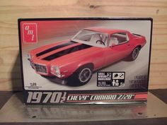 AMT Chevy Camaro scale model kit sealed in the original box. Priority Mail Medium Flat Rate Box shipping is recommended. Model Cars Kits, Kit Cars, Car Kits, Plastic Model Kits, Plastic Models, Chevy Camaro Z28, Scale Models, Seal, Toys
