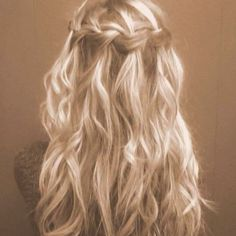 Waterfall french plait.