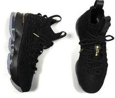 online retailer bf970 7fee9 Nike LeBron XV 15 GS Big Kids Style 922811-006 Black Metallic Gold Size 6.5   fashion  clothing  shoes  accessories  kidsclothingshoesaccs  boysshoes  (ebay ...