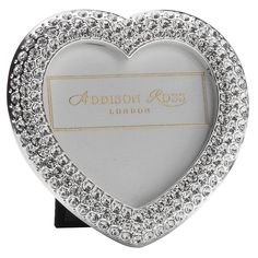 Addison Ross Diamonté Heart Frame Available to purchase at 56 Merrion Square