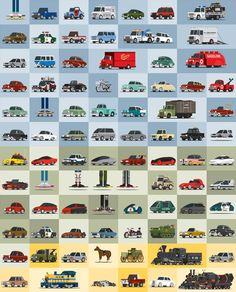 All the Cars From <em>Back to the Future</em> in One Cool Poster | Gizmodo UK