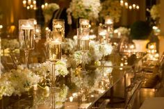 White & gold wedding banquet