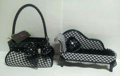 Jacki Design Black & White Checker Jewelry Box & Chase Ring Holder #Silver Decor
