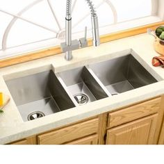 Shop For Avado 40 X 20.5 Stainless Steel Triple Bowl Undermount Kitchen Sink