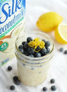 Refrigerator No-Cook Overnight Oatmeal is the perfect breakfast on the go! Easy, healthy, filling and delicious. A great way to start your day!