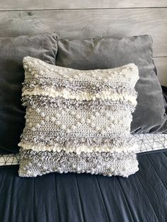 crochet pattern pillow pillow pattern crochet crochet. A modern crochet pillow that uses Lion Brand Yarn to create beautiful texture you just want to touch