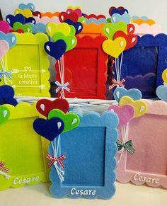 Cumpleaños Diy Arts And Crafts, Craft Stick Crafts, Preschool Crafts, Felt Crafts, Crafts For Kids, Paper Crafts, Frame Crafts, Diy Frame, Felt Decorations