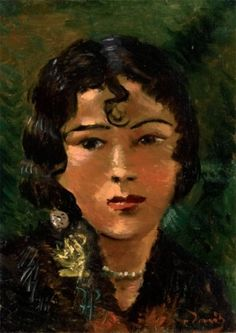 André DERAIN (1880 ? 1954) Portrait de Tela Tchai. Circa 1930. Huile sur toil