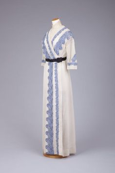 Embroidered Marquisette Day Dress, ca. 1912  via Goldstein Museum of Design