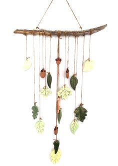 Automne+feuilles+vent+porcelaine+céramique+grand+par+MuddyHeart