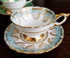 AM Dolce Vita, Vintage Teacup Collection, Vintage Fine Bone China Teacups and Saucers, Paragon, Royal Albert, Royal Stanley and Tuscan fine bone china teacup sets