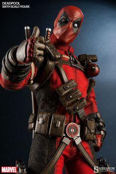 """Sideshow 1//6 Marvel 12/"""" Comics Mercenaire avec une bouche Deadpool Action Figure"""