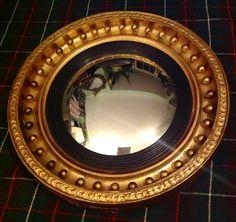 Antique Mirrors New Arrivals : c.1810 English Regency Gilt Convex Mirror HUTCHISONANTIQUES.COM