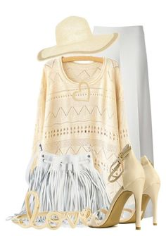 """""""Perfect for a walk in spring......"""" by queenrachietemplateaddict ❤ liked on Polyvore featuring P.A.R.O.S.H., Monsoon, Sydney Evan, white, yellow and pale"""