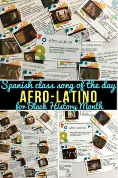 Afro-latino del d�a - Song of the day - for Black History Month in Spanish class or to just add diversity to the music you use - Mis Clases Locas