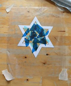 Easy Hanukkah craft for kids - star suncatcher - NurtureStore Hanukkah Crafts, Hannukah, Christmas Crafts For Kids, Holiday Crafts, Toddler Art, Toddler Crafts, Toddler Activities, Star Wars, Holiday Activities