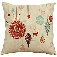 """Ikevan Vintage Christmas Sofa Bed Home Decor Pillow Case Cushion Cover(18"""" x 18"""") (09)"""