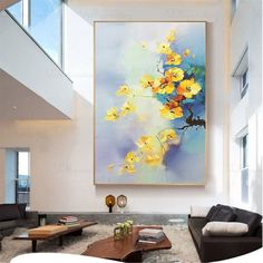 Original acrylic gold flowers abstract painting on canvas wall art pictures for living room home hallway wall thick texture quadros decor Diy Canvas Art, Canvas Wall Art, Acrylic Canvas, Flower Canvas, Wall Art Pictures, Living Room Art, Abstract Flowers, Texture Art, Gold Flowers