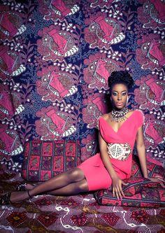 """Flamingo Dress pink"" und ""Makossa Stilettos black"" www.lenahoschek.com"