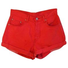 Pre-owned Levi's Denim Shorts (3.415 RUB) ❤ liked on Polyvore