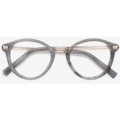 7849500fda Women's Yuke - Light Gray round metal - 17651 Rx Eyeglasses ($52) ❤ liked
